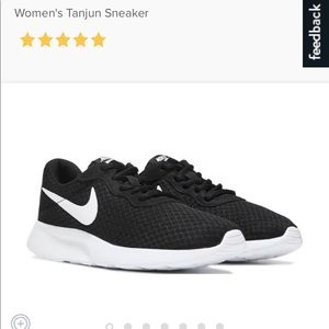 Women's tanjun black and white shoes